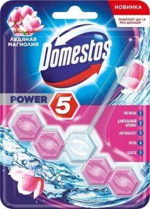 Domestos туалетный блок ледяная Магнолия(шарики) 55гр
