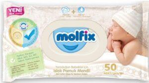 MOLFIX Детские 0+ влажные салфетки 50шт