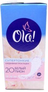 OLA Daily Deo гигиенические прокладки на каждый день Белый пион 20шт