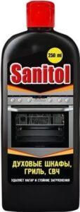 Sanitol средство для чистки духовых шкафов.СВЧ.грилей 250мл