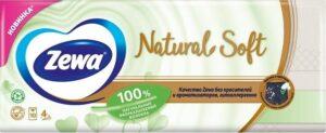 Zewa Носовые платочки Natural Soft 4х слойные 10шт