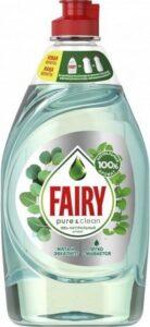 FAIRY Средство для мытья посуды Pure&Clean Мята и Эвкалипт 450мл