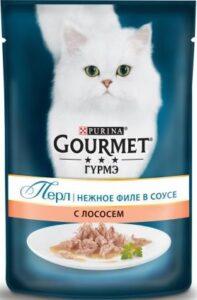Purina гурмэ кошачий корм Лосось в соусе 85гр