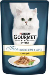 Purina гурмэ кошачий корм Курица в соусе 85гр