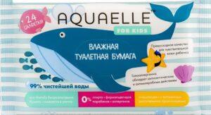 Aquaelle Medical Детская Влажная туалетная бумага 24шт