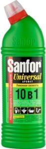 SANFOR UNIVERSAL средство для чистки и дезинфекции Лимонная свежесть 1000мл