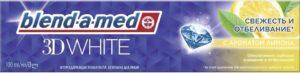 BLEND A MED Зубная паста 3D White с ароматом Лимона 100мл