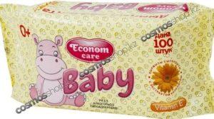 Econom Care влажные салфетки для детей с экстрактом календулы 100шт