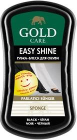 Gold Care губка-блеск для обуви Easy Shine Чёрная 1шт