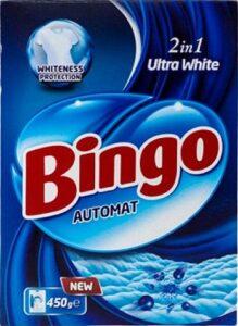 BINGO Порошок стиральный автомат ULTRA WHITE 450гр
