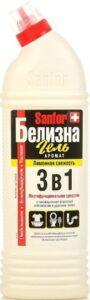 SANFOR Чистящее средство 3в1 Белизна гель Лимонная свежесть 700гр