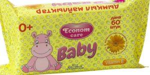 Econom Care влажные салфетки для детей с экстрактом календулы 60шт