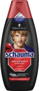 Schauma Men Шампунь сила Карбона 5 с Кофеином 380мл