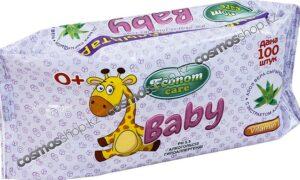 Econom Care влажные салфетки для детей с экстрактом Алоэ Вера 100шт