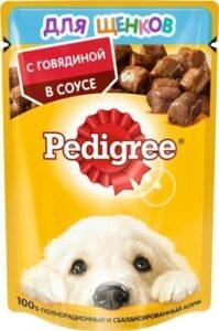 Pedigree собачий корм для щенков с Говядиной в соусе 85гр