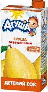 Агуша Сок детский Груша осветлённый 500мл