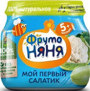 Фруто Няня пюре Мой первый салатик банка 5+ 80мл