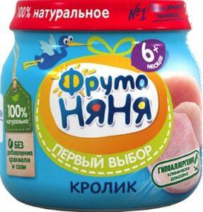 Фруто Няня пюре Кролик банка 6+ 80мл
