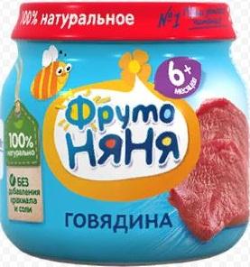 Фруто Няня пюре Говядина 6+ банка 80мл