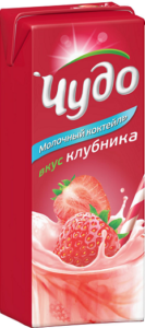 Чудо молочный коктейль Ароматизированный Клубника 200мл