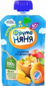 Фруто Няня пюре салатик из Фруктов 6+ 90мл