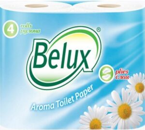Belux Туалетная бумага с ароматом Ромашки Белая 2х слойная 4шт