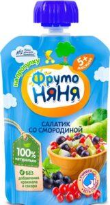 Фруто Няня пюре салатик со Смородиной 6+ 90мл