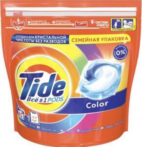 TIDE Средство моющее в растворимых капсулах Color 45шт