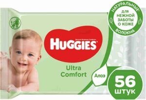Huggies Влажные салфетки Wipes DuoUltra Comfort Aloe 56