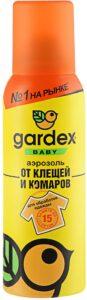 Gardex Baby Аэрозоль для одежды от клещей и комаров 100мл