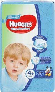 Huggies подгузники Ultra Comfort Convy №4+ Boy 17шт