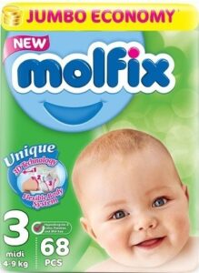 MOLFIX Подгузники детские №3 MIDI JUMBО 68шт