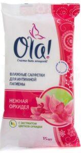 OLA Silk Sense Влажные салфетки для Интимной гигиены Нежная орхидея 15шт