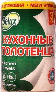 Belux Полотенце бумажное 3в1 Белое 2х слойное 150 листов 1шт