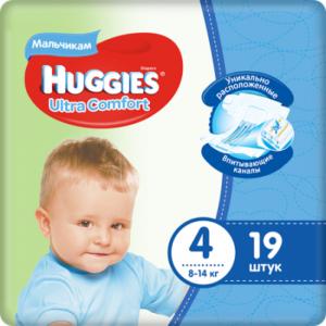 Huggies подгузники Ultra Comfort Convy №4 Boy19шт