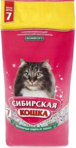 Сибирская Кошка наполнитель Впитывающий Комфорт 7л