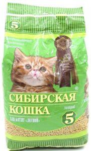 Сибирская Кошка наполнитель для Котят Впитывающий Лесной 5л