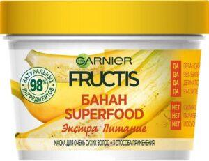 Fructis маска для волос Superfood Экстра питание с экстрактом Банана 390мл