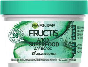 Fructis маска для волос Superfood Увлажняющий с экстрактом Алоэ 390мл