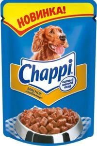 Chappi собачий корм Мясное изобилие в соусе 85гр