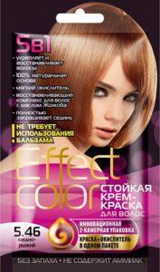 Effect Color Стойкая крем-краска для волос 5.46 Медно-рыжий 50мл