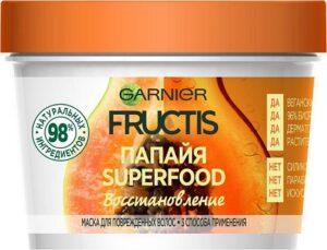 Fructis маска для волос Superfood Восстановление с экстрактом Папайи 390мл