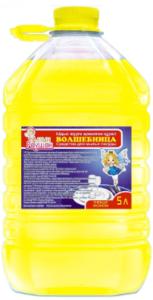 Волшебница средство для мытья посуды Жёлтое 5л