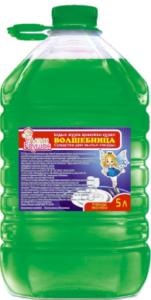 Волшебница средство для мытья посуды Зелёное 5л