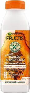 Fructis бальзам-ополаскиватель Superfood Восстановление с экстрактом Папайи 350мл
