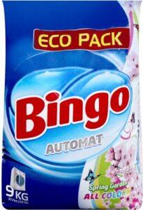 BINGO Порошок стиральный автомат ALL COLORS Sprinf Garden 9кг