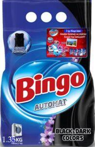 BINGO Порошок стиральный автомат BLACK&DARK COLORS 1.35кг