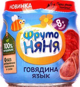 Фруто Няня пюре Говядина Язык банка 8+ 80мл