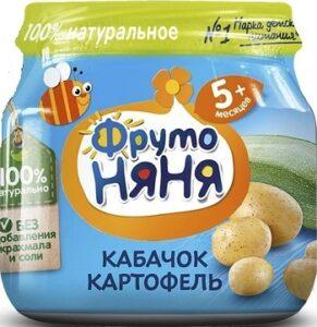 Фруто Няня пюре Кабачок Картофель 5+ банка 80мл