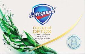 SAFEGUARD Natural Detox Мыло туалетное с экстрактом Морских водорослей 110гр